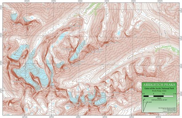 Arrigetch Peaks Map 5 OnlineImg